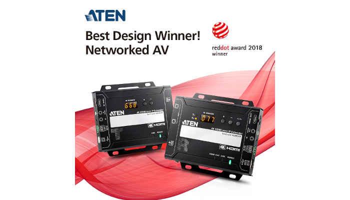 Red Dot Award 2018: ATEN 4K Video over IP Extender Wins