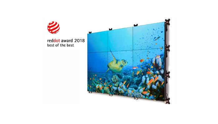 Red Dot Award 2018: Barco's revolutionary LCD video wall platform wins Best of the Best Award for ground-breaking design