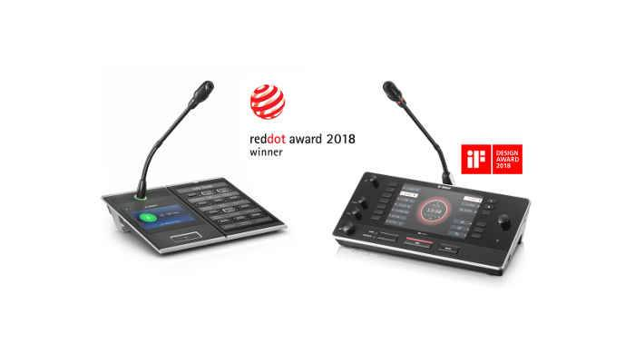 Red Dot Award 2018: International Design Awards for highly innovative Bosch IP Conference and Public Address products
