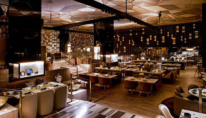 Dubai S Play Restaurant Lounge Exudes Extravagance With Dark Modern Interiors And Breathtaking 36th Floor Panoramic Views This Sleek Eatery