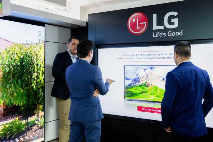 LG Showcases Commercial Display Technology at New Sydney Business Centre
