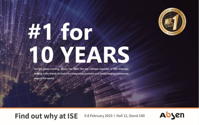 ISE 2019: Absen Celebrates 10 Years with Fine Pixel Generation Theme