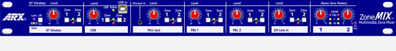 ISE 2019: ARX Systems to Introduce New 1RU Mic/Line Zone Mixer