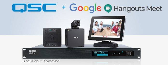 Q-SYS Core 110f Processor Certified for Google Hangouts Meet