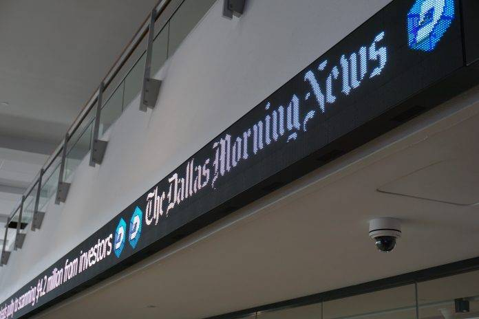 Dallas Morning News Keeps the Story Rolling with NanoLumens