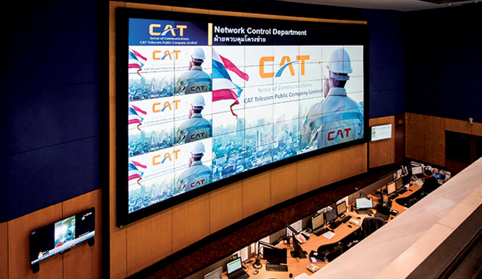 Extron Videowall Provides Clear View of Network Conditions for Thailand's CAT Telecom