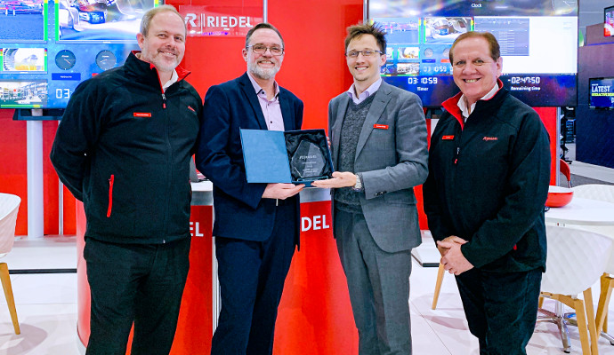Riedel Presents MCEC With Appreciation Award at Integrate Expo