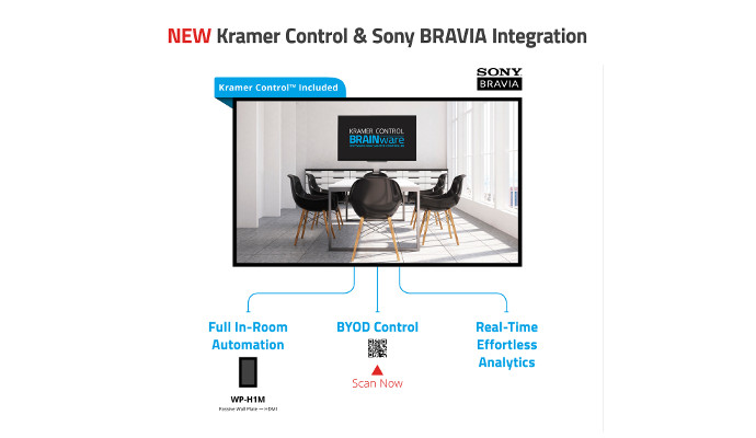 Sony BRAVIA Displays Integrate Kramer Controls with Exterity ArtioGuest and Chromecast